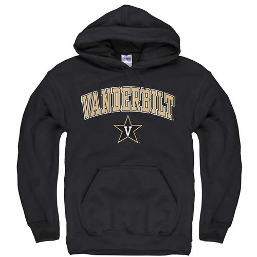 Youth Champion Vanderbilt Commodores Arch Power Hooded Fleece (Black)