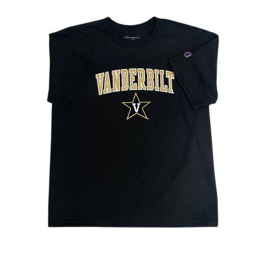 Youth Champion Vanderbilt Commodores Arch T-Shirt (Black)