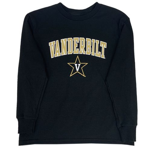 Youth Champion Vanderbilt Commodores Arch Long Sleeve Shirt (Black)