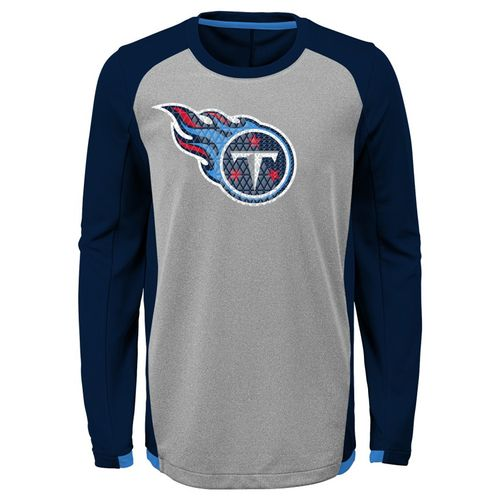 Kid's Tennessee Titans Main Frame Long Sleeve Shirt (Grey)
