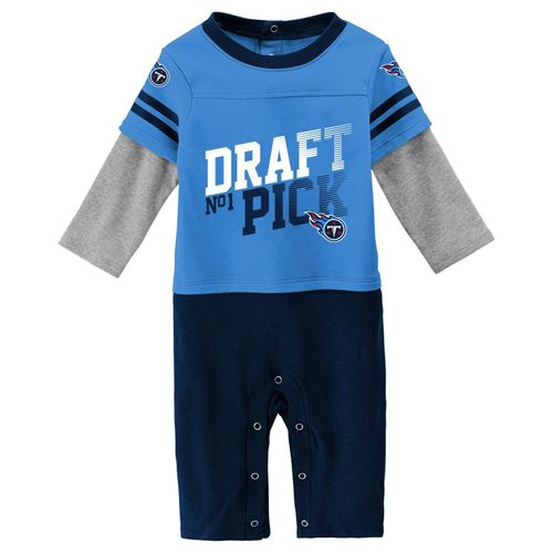 Infant Tennessee Titans Draft Pick Long Sleeve Shirt (Navy)