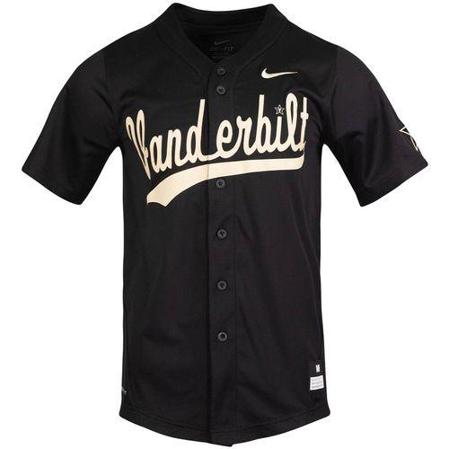 Men's Nike Vanderbilt Commodores Replica Baseball Jersey (Black)