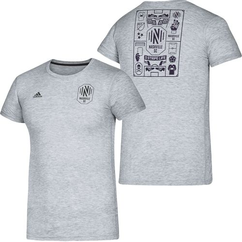 Men's Adidas Nashville Soccer Club Isn't It Iconic T-Shirt (Grey)