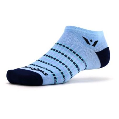Swiftwick Aspire Stripe No Show Sock (Sky Blue)
