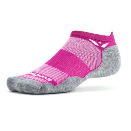 Swiftwick Maxus No Show Tab Sock (Wildflower Pink)