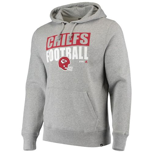 '47 Brand Men's Kansas City Chiefs Block Out Hooded Fleece (Slate)