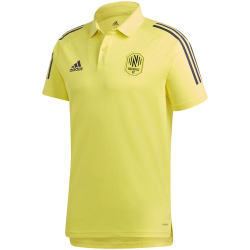 Men's Adidas Nashville Soccer Club Coaches Polo (Yellow)