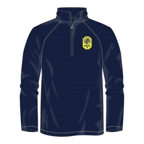 Men's Fanatics Nashville Soccer Club Iconic 1/4 Zip Up Fleece (Navy)