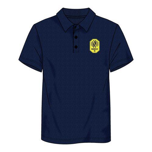 Men's Fanatics Nashville Soccer Club Striated Polo (Navy)