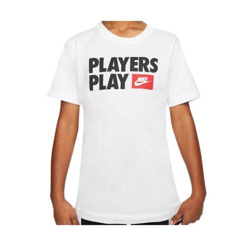 Boy's Nike Players Play T-Shirt (White)