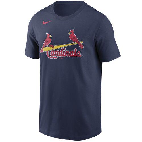 Men's Nike St. Louis Cardinals Cotton Wordmark T-Shirt (Navy)