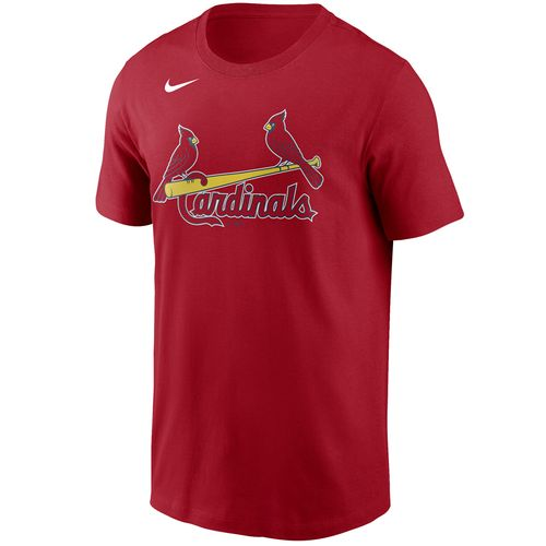 Men's Nike St. Louis Cardinals Cotton Wordmark T-Shirt (Red)