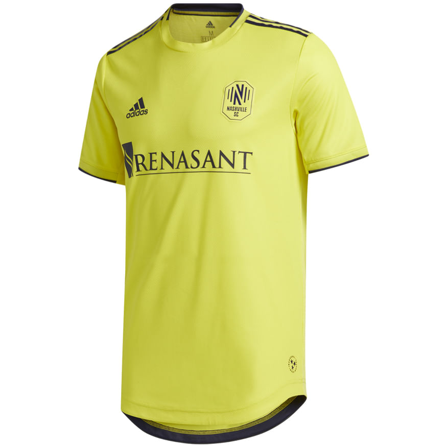 Men's Adidas Nashville Soccer Club Primary Authentic Jersey (Forever Gold)