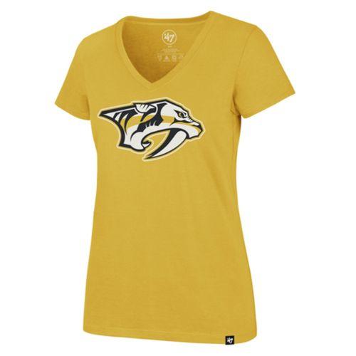 '47 Brand Women's Nashville Predators Imprint T-Shirt (Gold)
