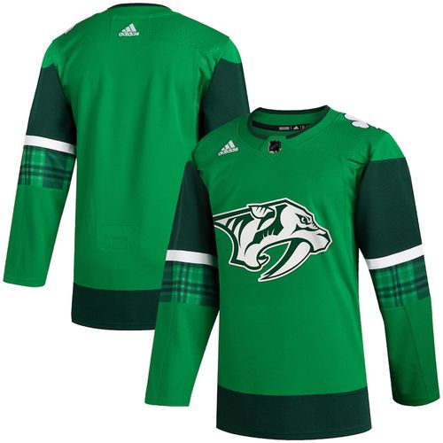 Men's Adidas Nashville Predators 2020 St. Patrick's Day Authentic Jersey (Kelly)