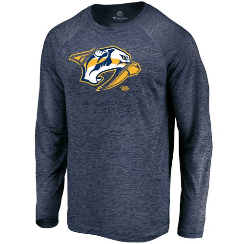 Men's Fanatics Nashville Predators Vital To Success Long Sleeve Shirt (Navy)