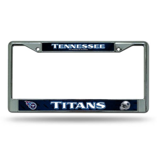 Tennessee Titans Laser Cut Chrome License Plate Frame (Navy)