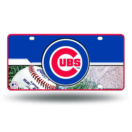 Chicago Cubs Logo Metal License Plate