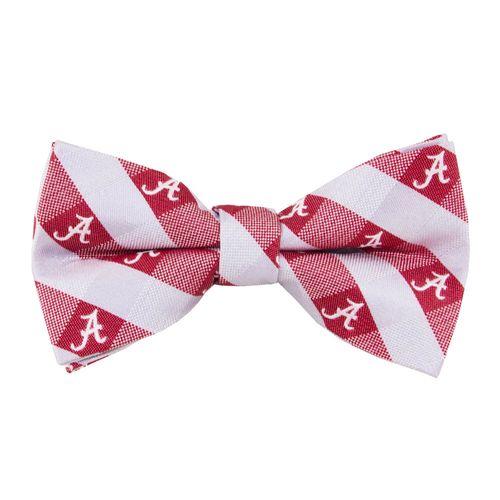 Alabama Crimson Tide Checkered Bow Tie (Crimson/Grey)