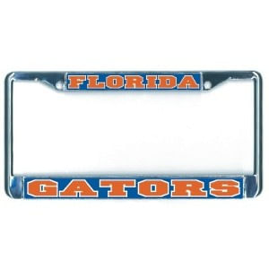 Florida Gators Domed Metal License Plate Frame