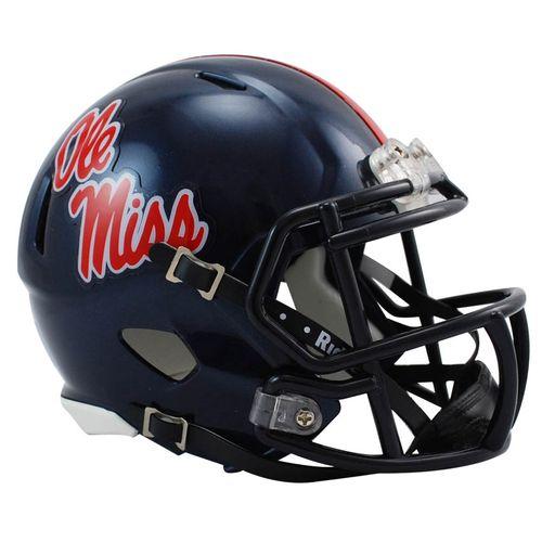 Ole Miss Rebels Mini Speed Helmet (Navy)