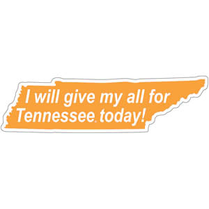 Tennessee Volunteers Give my All Decal