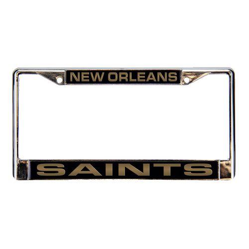New Orleans Saints Laser Chrome License Plate Frame (Chrome)