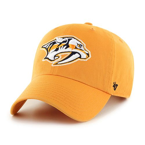 '47 Brand Nashville Predators Pred Head Adjustable Clean Up Hat (Gold)