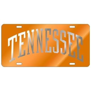 Tennessee Volunteers Arch License Plate Orange/Silver