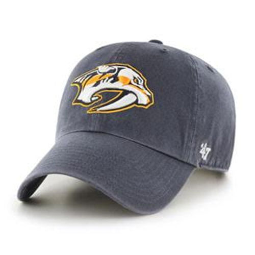 '47 Brand Nashville Predators Logo Clean Up Adjustable Hat (Vintage Navy)