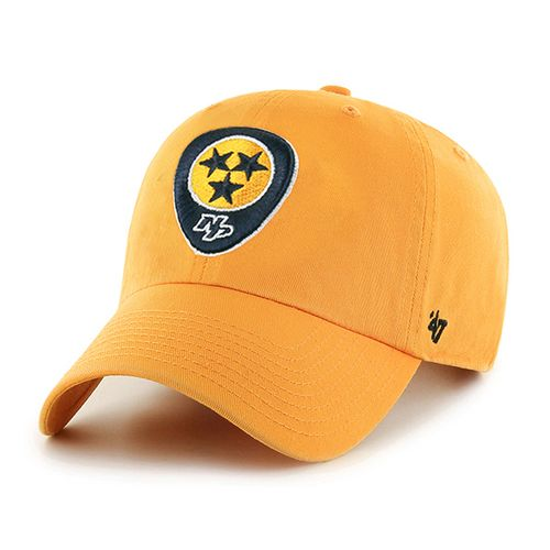'47 Brand Nashville Predators Guitar Pick Adjustable Clean Up Hat (Gold)