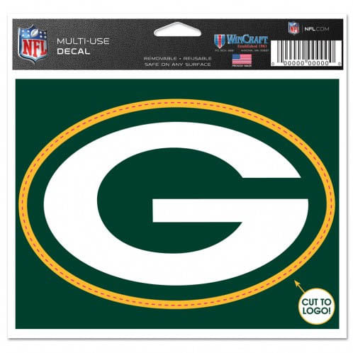Green Bay Packers Cut to Logo Decal