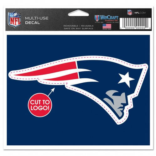 New England Patriots Cut to Logo Decal (Navy)