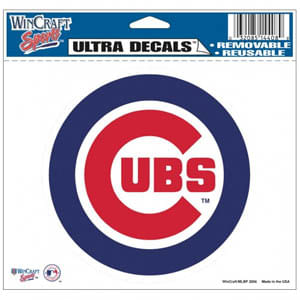 Chicago Cubs Multi-Use 5X6 Colored Decal