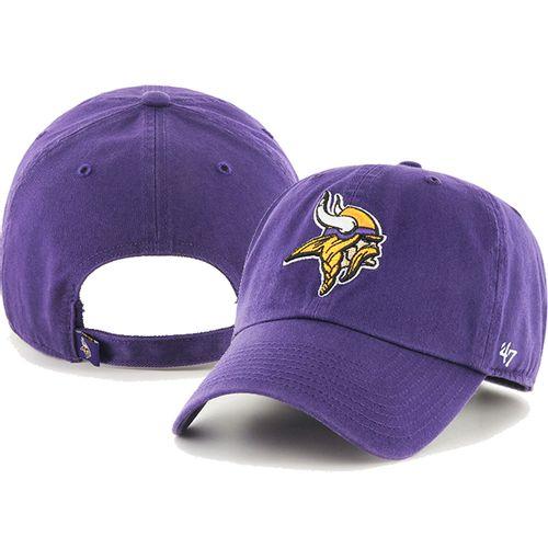 '47 Brand Minnesota Vikings Clean up Adjustable Hat (Purple)