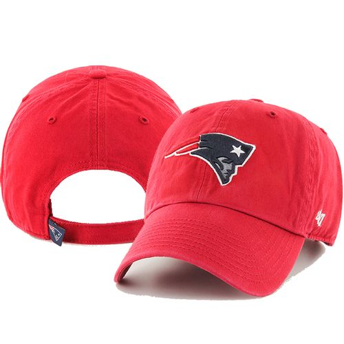 '47 Brand New England Patriots Alternate Clean up Adjustable Hat (Red)