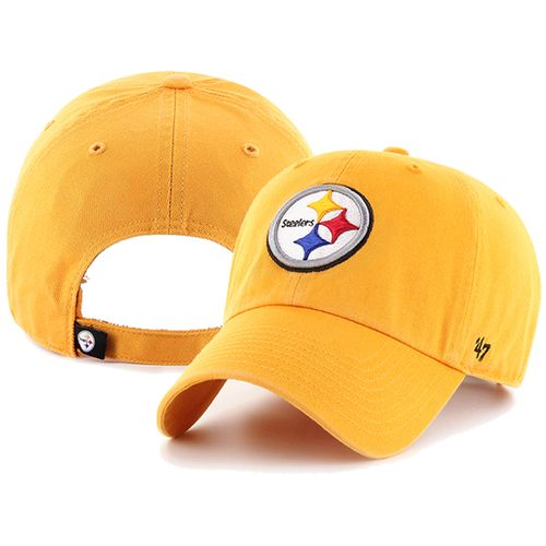 '47 Brand Pittsburgh Steelers Alternate Clean up Adjustable Hat (Gold)
