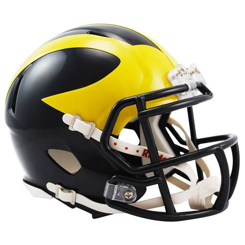 Michigan Wolverines Mini Speed Helmet (Navy)