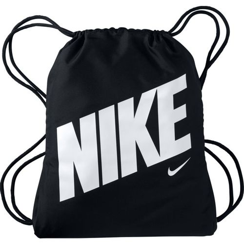 Nike Graphic Drawstring Bag (Black/White)