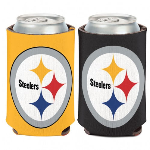 Pittsburgh Steelers Double Sided Can Cooler