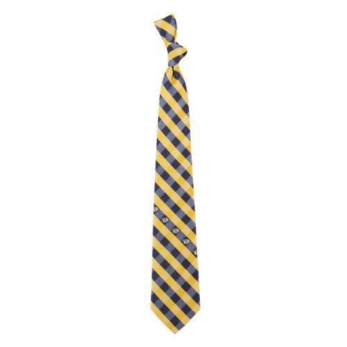 Nashville Predators Woven Checkered Tie (Yellow/Blue)