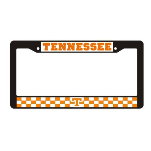 Tennessee Volunteers Checkerboard Plastic License Plate Frame (Black)