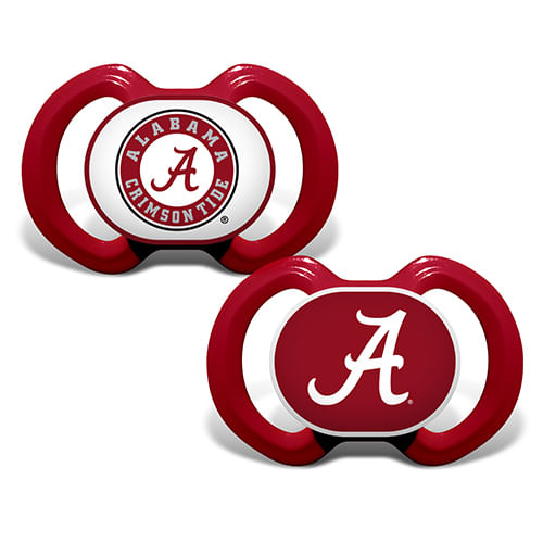 Alabama Crimson Tide 2-Pack Pacifiers (Crimson)