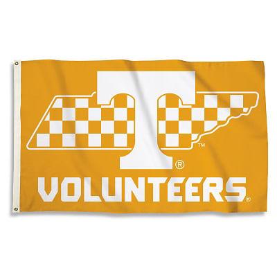 Tennessee Volunteers Checkerboard State 3X5 Flag (Orange)