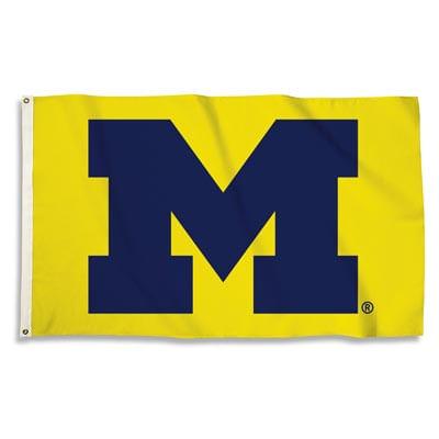 Michigan Wolverines 3X5 Flag (Yellow)