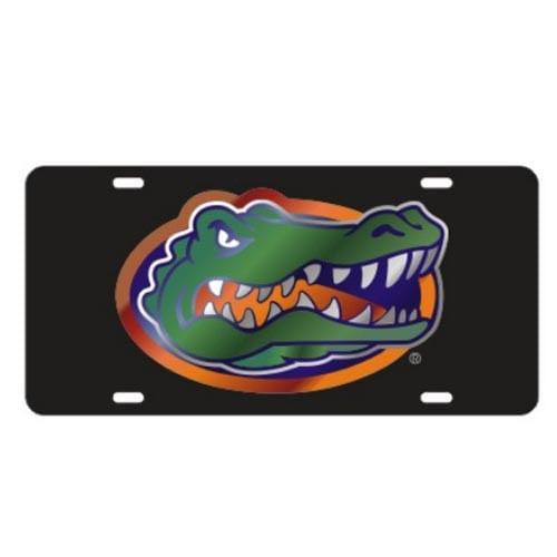 Florida Gators Logo Laser License Plate (Black)