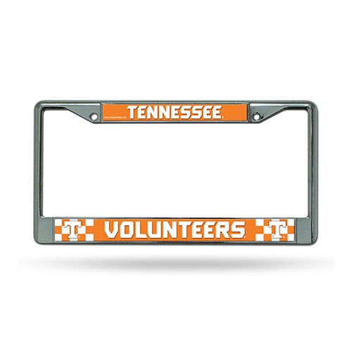 Tennessee Volunteers Checkerboard Chrome License Plate Frame (Chrome)