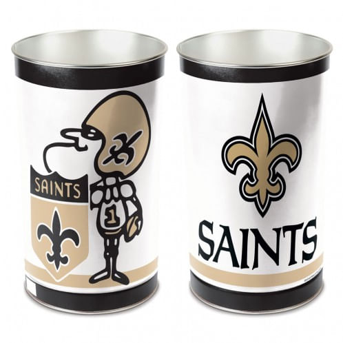 New Orleans Saints Tapered Trashcan