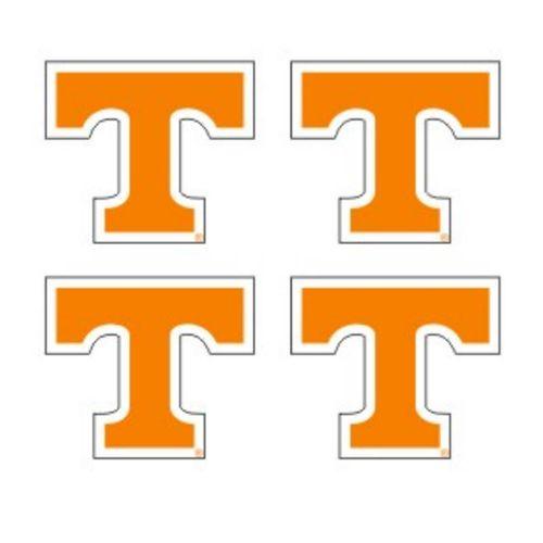 "Tennessee Volunteers 4pk of Power ""T"" Decals (Orange)"