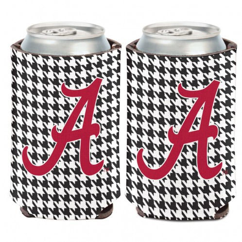 Alabama Crimson Tide Double Sided Can Cooler (Houndstooth)